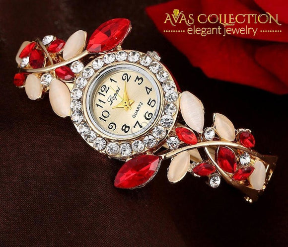 Colorful Crystal Bracelet Watch Womens Watches