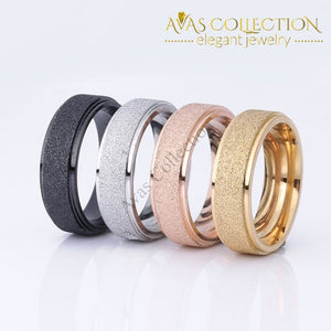 Titanium Steel Ring /black /rose /gold /silver Frosted Rings