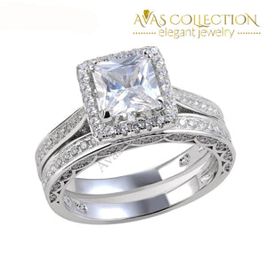 Princess Cut Wedding Ring Set Rings