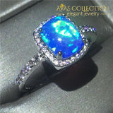 5 colors 10k White Gold Filled Ring - Avas Collection
