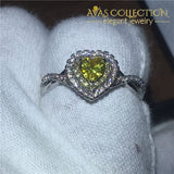 1 Carat Yellow Heart Ring Rings