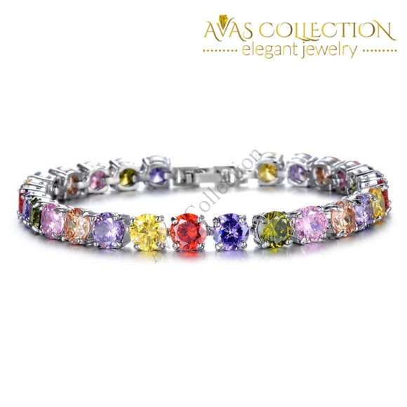 Multicolor Link Chain / Avas Collection Bracelet Charm Bracelets