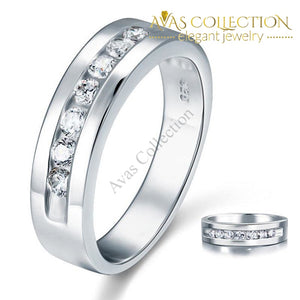 Round Cut Mens Bridal Wedding Band Rings