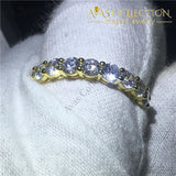 Eternity Band 14K Yellow Gold Filled Rings