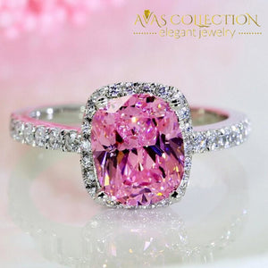 3Ct Pink Ring Rings