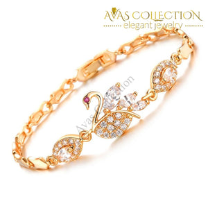 Swan Link Chain Design / Avas Collection Bracelet & Bracelets