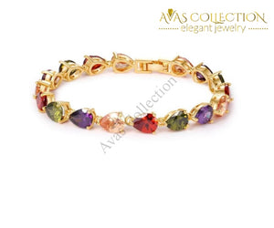 Colorful Crystal Bracelet / Avas Collection Strand Bracelets