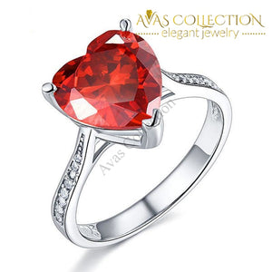 3.5 Carat Heart Red Rings