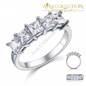 Princess Cut-Five Stone 1.25 Ct Rings