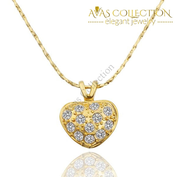 24K Gold Filled Heart Necklace Pendant Necklaces