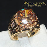 Vintage 15Ct Round Mens Ring Rings