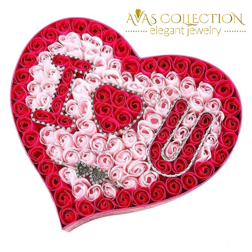 be34a51a89a82 ... I Love You Heart-Shaped Flower Box Artificial   Dried Flowers ...