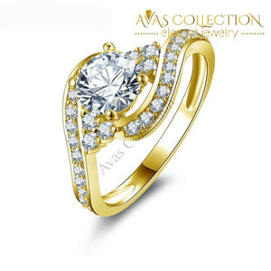 0.8 Ct Round Cut- 10Kt Yellow Gold Rings