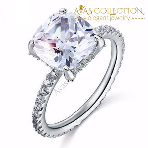 5 Carat Cushion Cut Rings