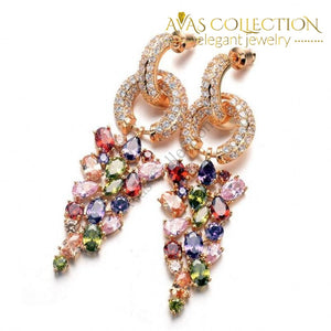 Fancy Dangle Earring- Rose Gold Filled Drop Earrings