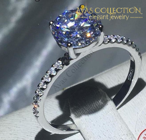 Solitaire 1Ct Engagement Ring Rings