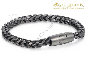 Black Tone Stainless Steel Chain & Link Bracelets