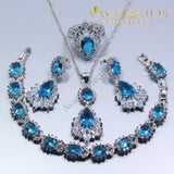 4PCS Jewelry Set Natural Blue - Avas Collection