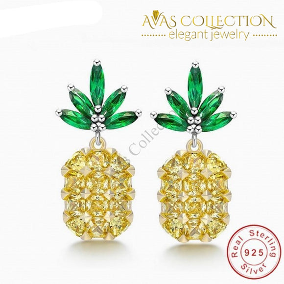 Pineapple Stud Earrings for women - Avas Collection