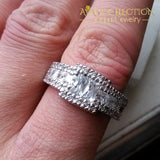 10Kt White Gold Filled Engagement Ring Rings