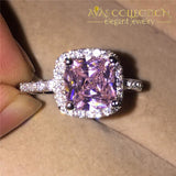 3CT Square Purple Luxury Ring 10k White Gold Filled - Avas Collection