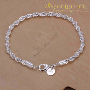 Twisted Rope Bracelet/ Avas Collection Chain & Link Bracelets