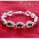 Silver Color ( Green )/ Avas Collection Bracelet Bangles