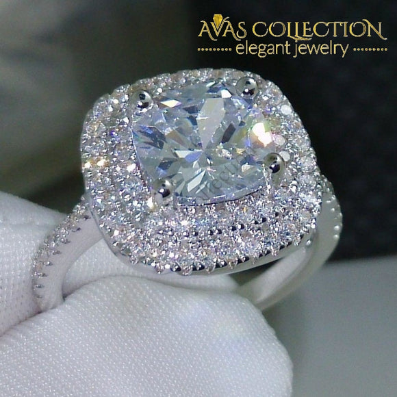 2 Carat Cushion Cut Engagement Ring Rings