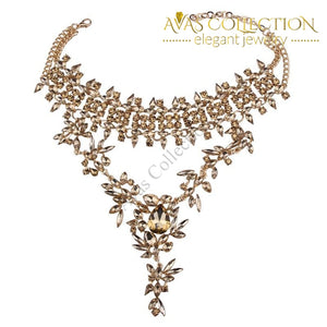 Boho Luxury Crystal Choker/Pendant Necklace - Avas Collection