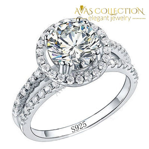 2 Carat Lovely Engagement Ring/ Simulated Diamonds Wedding Bands