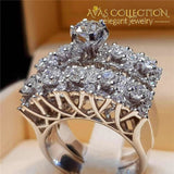 4 Styles Luxury Wedding Ring Sets Engagement Rings