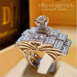 4 Styles Luxury Wedding Ring Sets 10 / 01 Engagement Rings