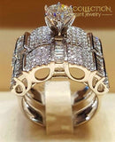 4 Styles Luxury Wedding Ring Sets 10 / 02 Engagement Rings