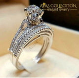 4 Styles Luxury Wedding Ring Sets 10 / Engagement Rings