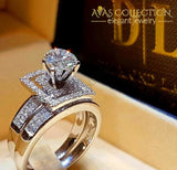 Luxury Wedding Ring Set Square Love-Smt3982 10 Engagement Rings