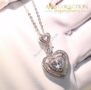 Sparkling Luxury Heart Necklace - Avas Collection