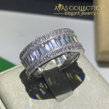 5-10 Luxury Jewelry White Gold Filled Round Cut Rings