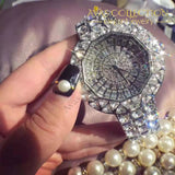 Iced Out Luxury Women's Watch in Silver/ Gold - Avas Collection