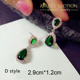 Luxury Green Stone Earrings Collection Drop