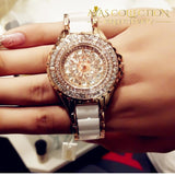Fashion Watch Crystal Dress In Gold Or Silver Womens Watches