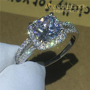 Cushion Cut 2Ct Engagement Ring Rings