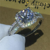 Cushion Cut 2Ct Engagement Ring 5 Rings