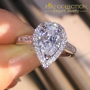 2 Carat Pear Cut Engagement Ring Rings