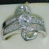 Luxurious 10Kt White Gold Filled Wedding Ring Set Rings