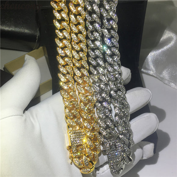 Iced Out 12.5mm Heavy Miami Cuban Link Chain