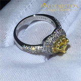 Heart Lovers Ring Yellow Stone Engagement Rings