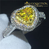 Heart Lovers Ring Yellow Stone 5 Engagement Rings