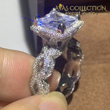 2019 New Luxury Wedding Ring Set Engagement Rings