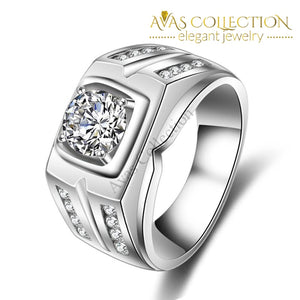 0.75Ct Mens Band Rings