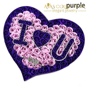 I Love You Heart-Shaped Flower Box Artificial & Dried Flowers